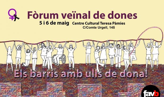 Cartell del Fòrum veïnal barcelonès de dones