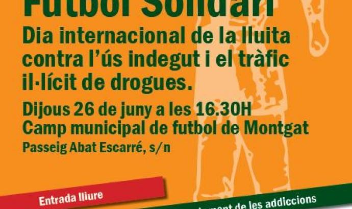 Futbol solidari amb les persones que pateixen addiccions Font: