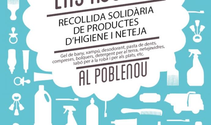 Recollida solidària de productes d'higiene i neteja al Poblenou Font: