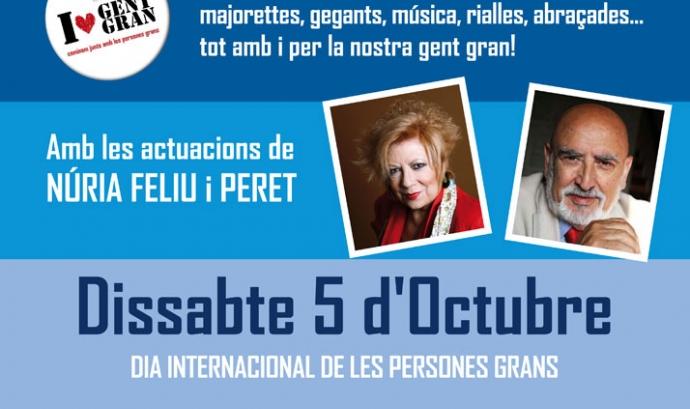 Cartell de la Marxa Festiva del Dia Internacional de les Persones Grans Font: