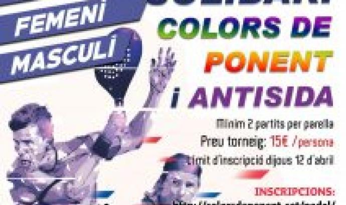 Cartell del torneig solidari. Font: Colors de Ponent