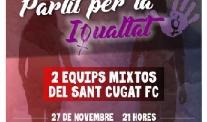Ainara Acevedo, Ylenia Sànchez i Matilde Estevesta seran les encarregades d'arbitrar el partit. Font: Club Sant Cugat FC.