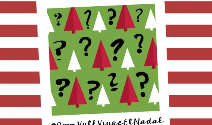 Cartell del concurs d'Instagram #ComVullViureElNadal. Font: Espai Jove La Fontana