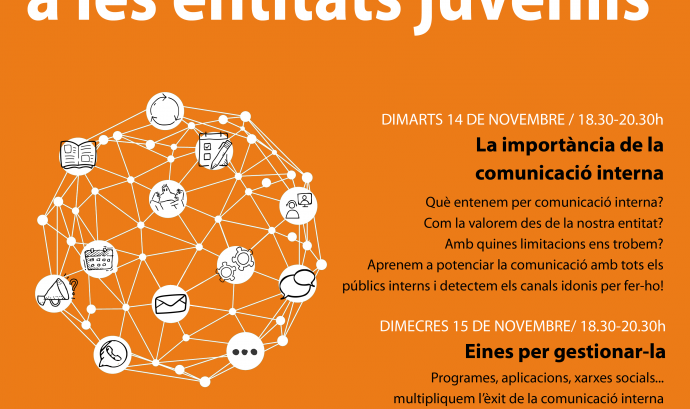 Cartell del Cicle de comunicació interna per a entitats juvenils