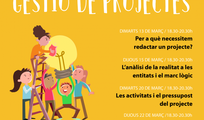 Cartell del Cicle de disseny, redacció i gestió de projectes