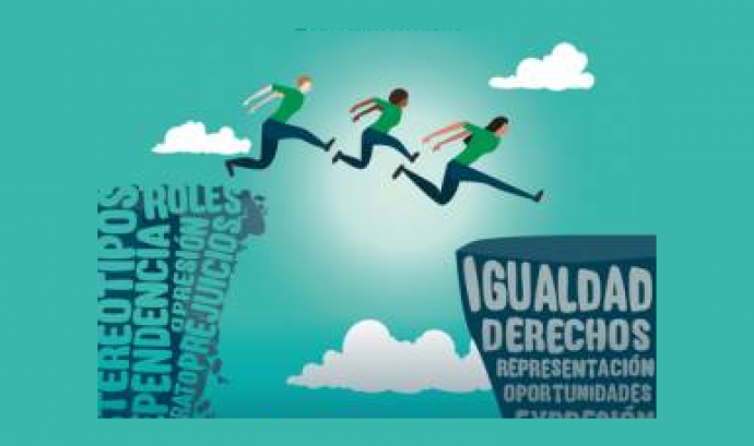 Detall del cartell sobre el Dia de la Dona del Ministerio de Sanidad, Servicios Sociales e Igualdad Font: