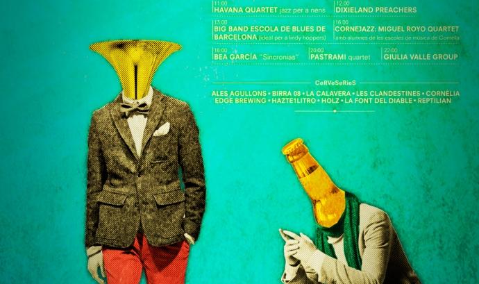 Cartell del II Festival Jazz & Beer de Cornellà de Llobregat