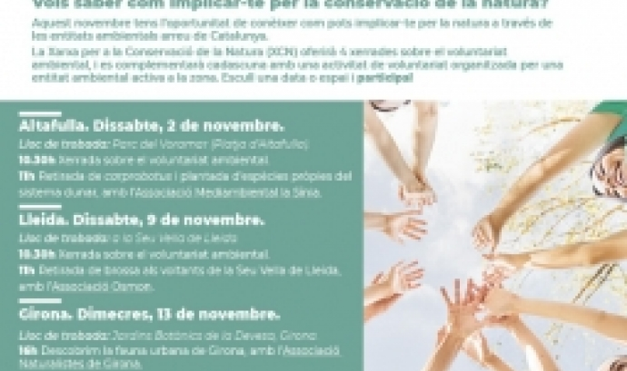Cicle de descoberta del voluntariat ambiental a Catalunya