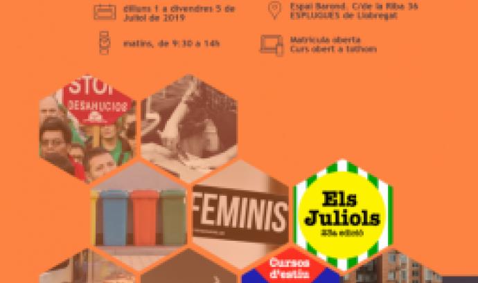 Cartell Juliols a la UB Curs d'Estiu 2019