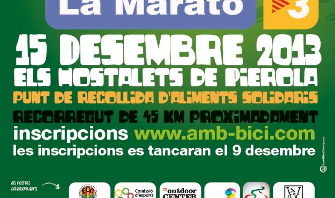 Cartell Pedelada per La Marato. Font: www.elshostaletsdepierola.cat