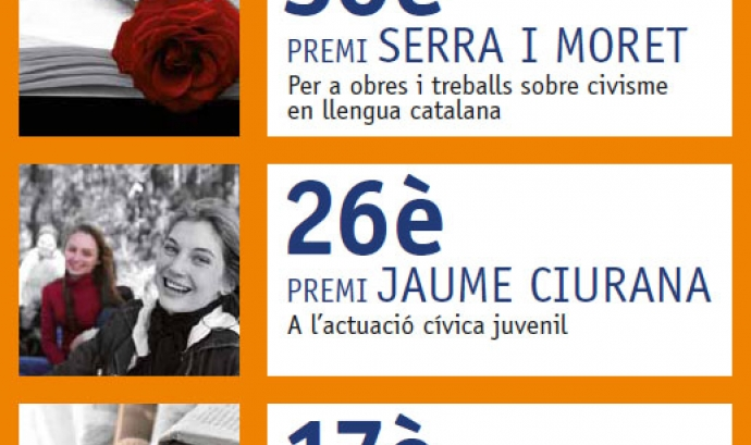 Cartell Premis de Civisme 2011. Font: Benestar Social i Família Font: