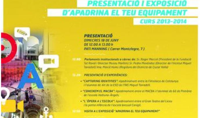 """Jornada de presentació de resultats del projecte """"Apadrina el teu equipament"""""""