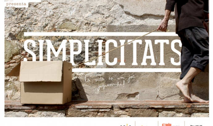 """Cartell de l'obra """"Simplicitats"""", de Xucrut Teatre."""