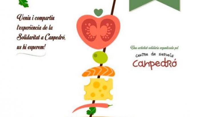 Cartell Tapa Solidària 2016.   Font: Fundació Canpedró Font:
