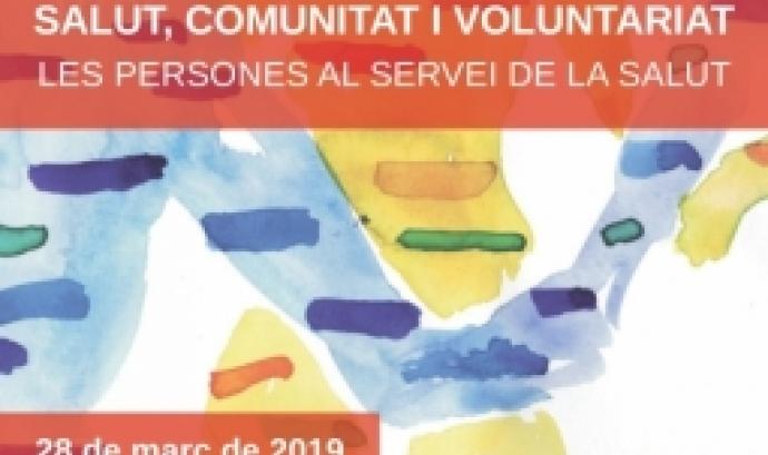 Cartell de la VI Jornada de Voluntariat i Salut a Girona.