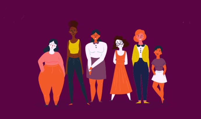 Il·lustració del programa que mostra un grup de dones