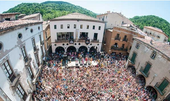 Imatge aèria d'una edició anterior del festival