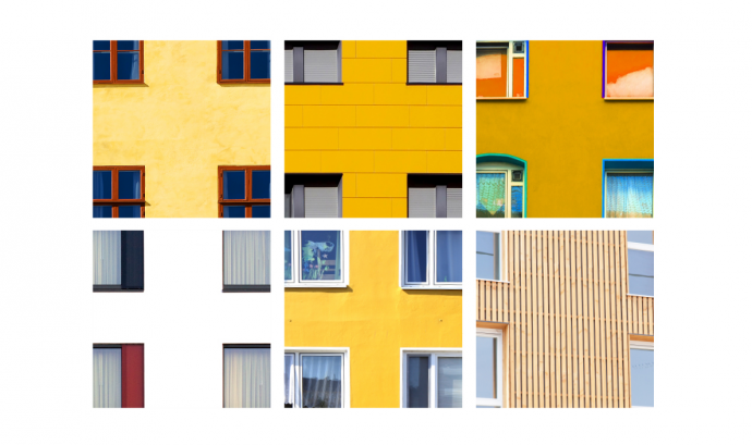 Finestres de diferents edificis