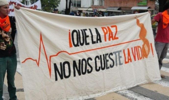 Persones activistes assassinades a Colòmbia Font: Tele Sur