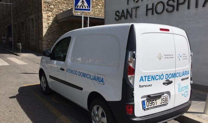 El vehicle elèctric de la Fundació Sant Hospital de la Seu d'Urgell (imatge: fsh.cat) Font: