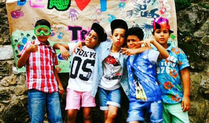 Infants del Casal Tria de la Fundació Comtal. Font: Fundació Comtal
