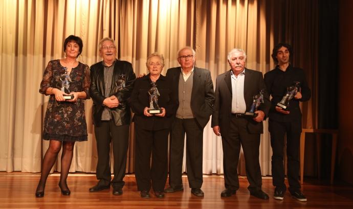 Foto de família dels premiats Font: