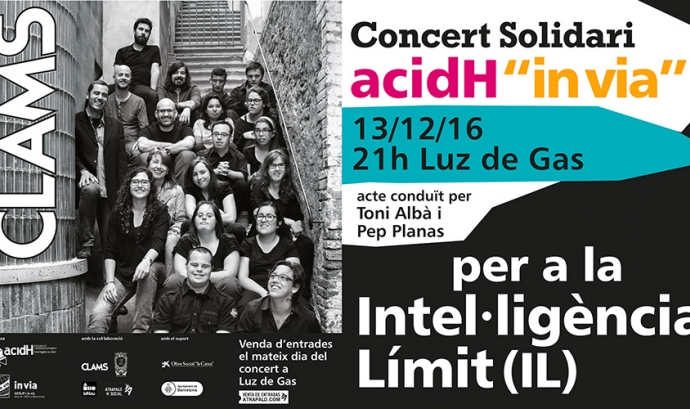 Concert solidari Clam per la Intel·ligència Límit Font: