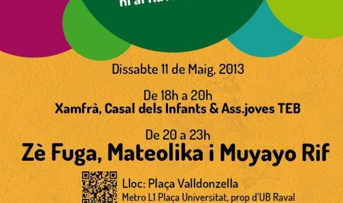 """Cartell del concert """"Al Raval, viu i conviu!"""""""