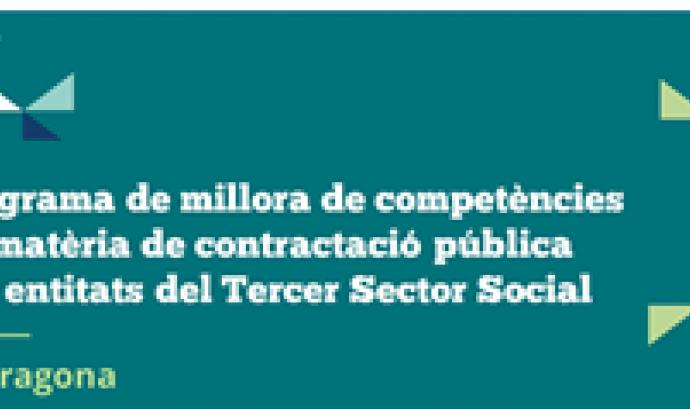 Programa de millora de competències en contractació Pública per a entitats del Tercer Sector Social. Font: La Confederació
