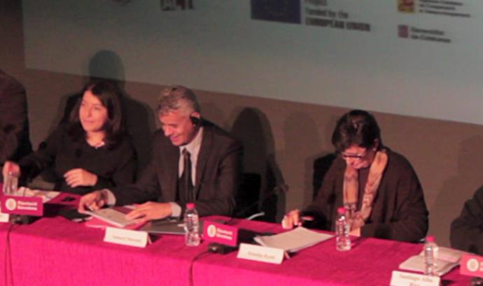 Una imatge de la conferència celebrada a Barcelona Font: