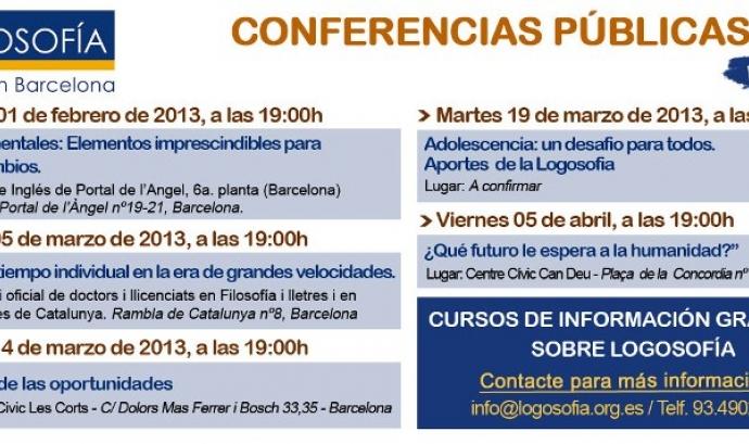 Conferències Públiques 2013 de Logosofía