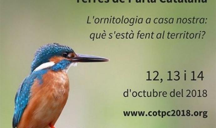 Cartekl del 1r Congrés d'Ornitologia de les Terres de Parla Catalana, que se celebrarà del 12 al 14 d'octubre