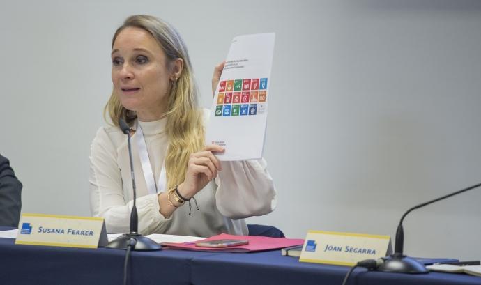Susana Ferrer, advocada i col·laboradora a Fundesplai, en un dels debats del VI Congrés del Tercer Sector.  Font: Taula del Tercer Sector