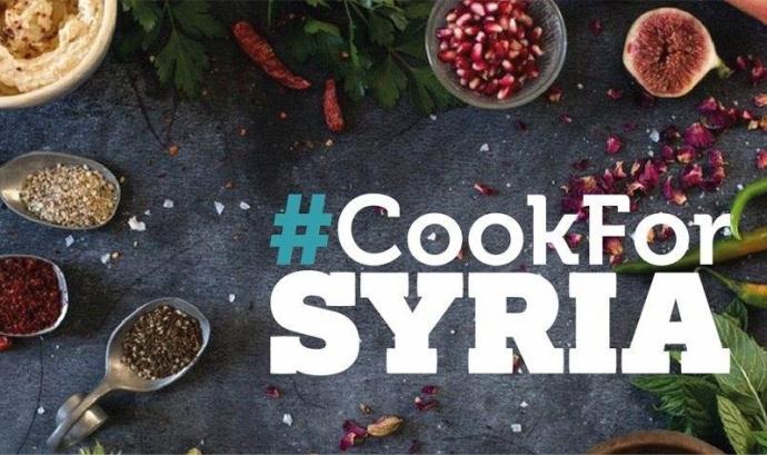 Cartell de la campanya. Font: #CookForSyria Font: