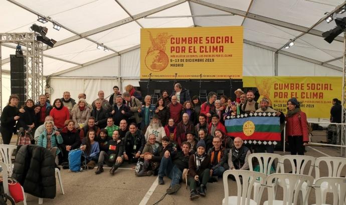 Les entitats van estar presents a la Cimera Social pel Clima. Font: Ecologistas en Acción