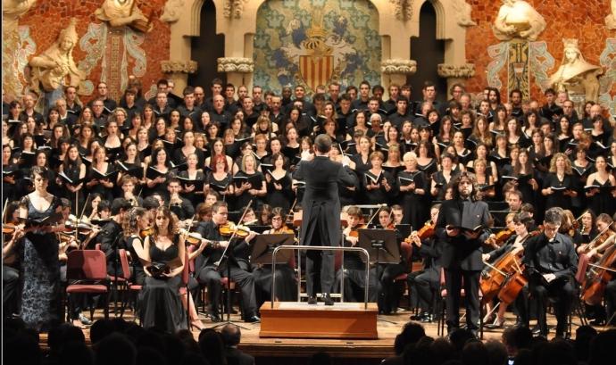 Actuació coral al Palau de la Música Font:
