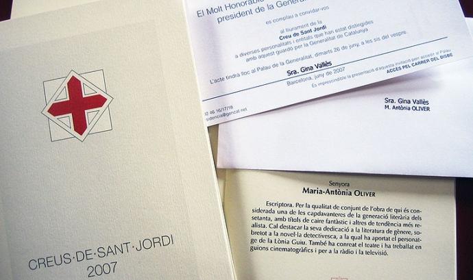 La Creu de Sant Jordi s'atorga des de 1981 Font: