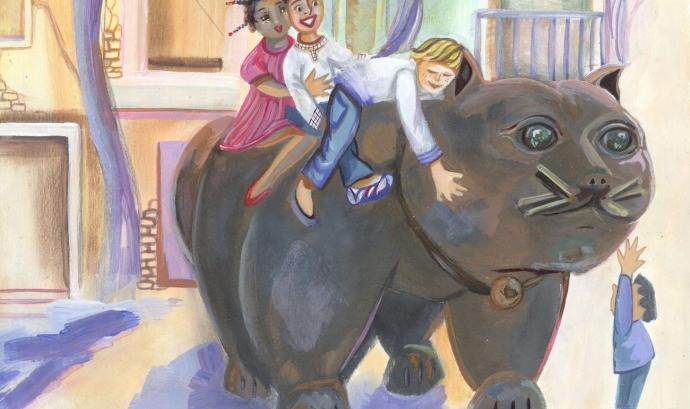 Detall d'una de les il·lustracions que apareixen al calendari d'enguany
