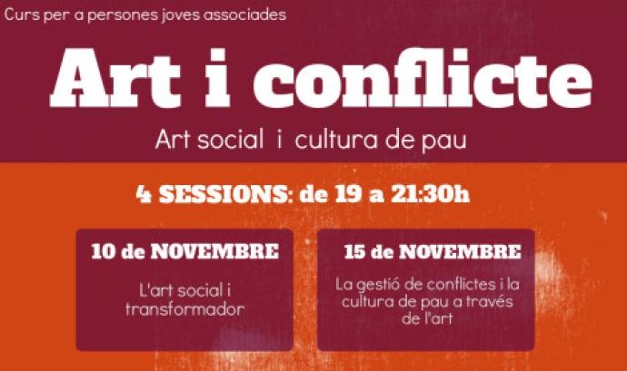 Cartell del Curs d'Art i conflicte / Font: Educació Transformadora