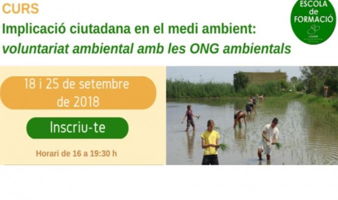 Curs sobre Implicació ciutadana en el medi ambient: Voluntariat ambiental amb les ong ambientals