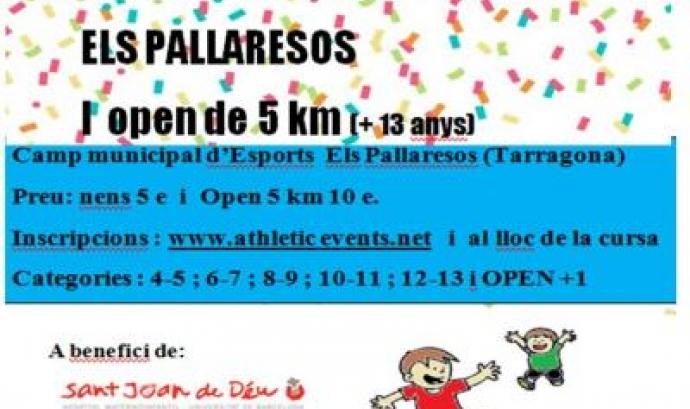 Cartell Cursa Solidària Infantil Els Pallaresos. Font: Athleticevents.net
