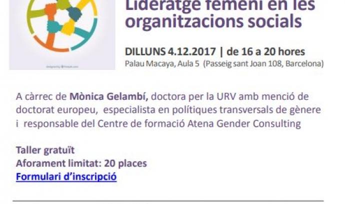 'Lideratge femení en les organitzacions socials'