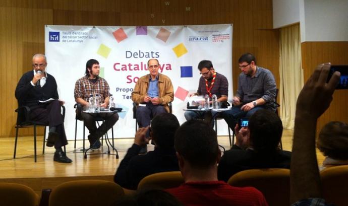 Debat sobre l'accés al lleure educatiu. Foto: MEG.