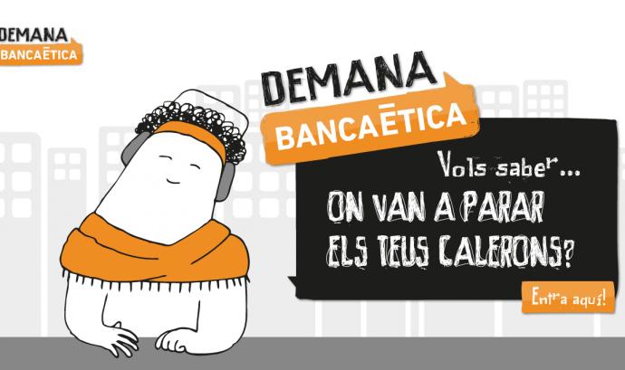 Captura de la plataforma interactiva Demana banca ètica Font: