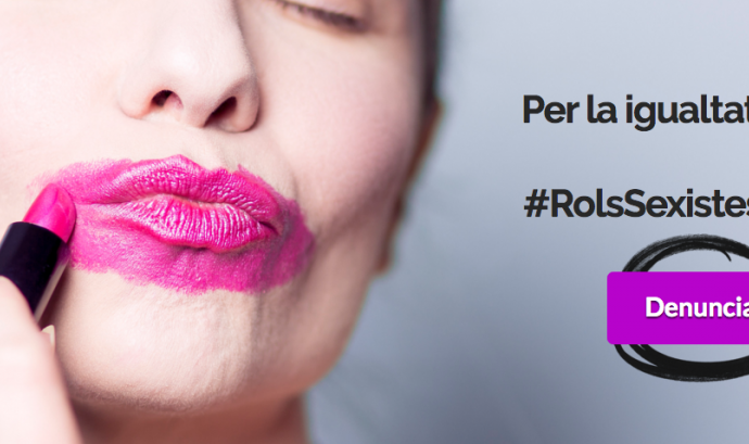 """Imatge de la campanya """"Rols sexistes? No gràcies"""" Font:"""