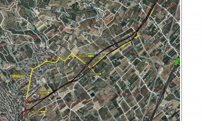 Gepec denúncia el traçat de la nova carretera entre Almoster i La Selva del Camp (imatge: Gepec) Font:
