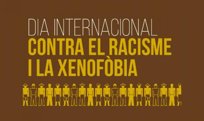 Part del cartell amb les accions per al Dia contra el racisme i la xenofòbia Font: