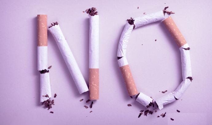 Imatge d'una campanya del Dia Mundial sense Tabac Font: ANSES a Flickr
