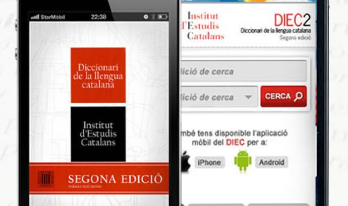 DIEC2, el diccionari de la llengua catalana al teu mòbil Font: