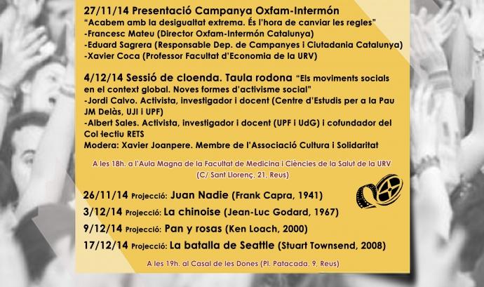 Cartell Dijous Cooperatius a la URV (Font: URV)
